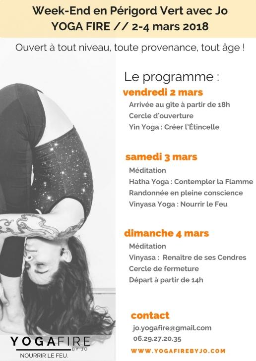 Week-End en Périgord Vert avec Jo - YOGA FIRE 2-4 mars 2018 (2)